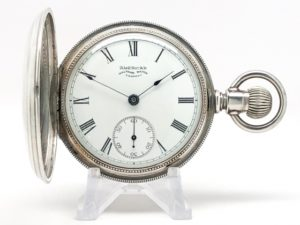 Pristine Waltham Pocket Watch The Gentlemen's Dress Pocket Watch of the Day Housed in this Beautiful Coin Silver Hunter Case circa 1889