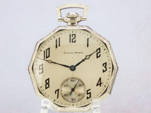 South Bend Grade 429 Gentleman's Pocket Watch Housed in Stunning 14K White Gold Fill Case