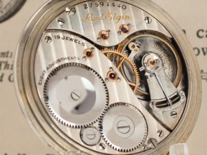 Lord Elgin The Dress Pocket Watch Housed in this Stunning 14K White Gold Case