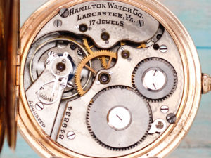 Hamilton Grade 975 The Dress Watch of the Day Housed in Yellow Gold Fill Hunter Case