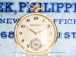 Patek Philippe Housed in 18K Gold with Original Box and Certificate of Origin/Warranty