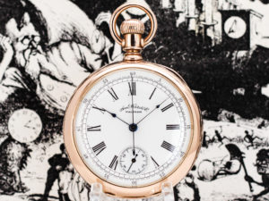 Rare Waltham Chronograph Housed Pristine in 14K Solid Rose Gold Case